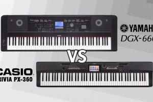 Review Digital Piano Terbaik Yamaha DGX-660 dan Casio PX-360