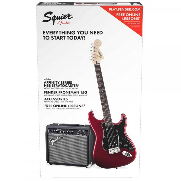 Squier Affinity Series Stratocaster HSS Pack Candy Apple Red